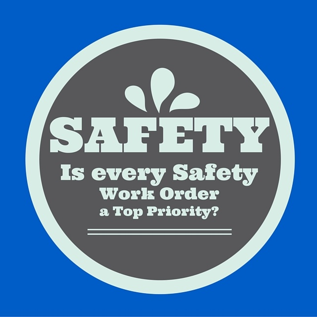 establishing maintenance work order priority with safety items